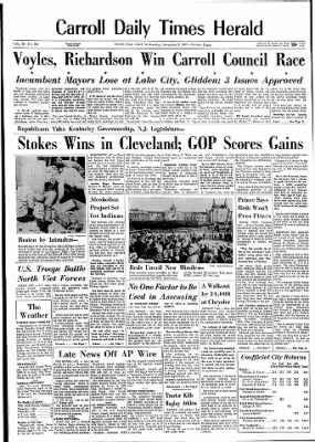Carrol Daily Times Herald from Carroll, Iowa on November 8, 1967 · Page 1