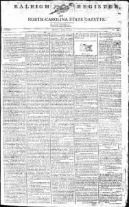 Sample Weekly Raleigh Register front page