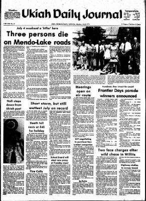 Ukiah Daily Journal from Ukiah, California on July 8, 1974 · Page 1