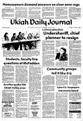 Ukiah Daily Journal from Ukiah, California on January 18, 1978 · Page 1