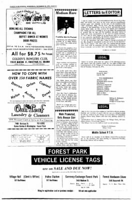 Forest Park Review from Forest Park, Illinois on December 30, 1970 · Page 10