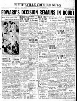 The Courier News from Blytheville, Arkansas on December 9, 1936 · Page 1