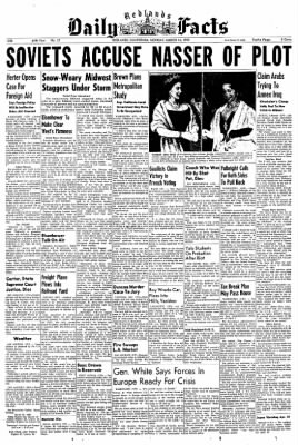 Redlands Daily Facts from Redlands, California on March 16, 1959 · Page 1