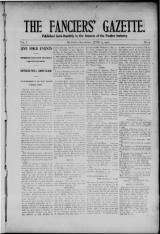 The Fanciers Gazette