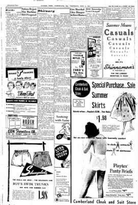 Cumberland Evening Times from Cumberland, Maryland on June 5, 1957 · Page 22
