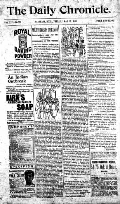 The Daily Chronicle from Centralia, Washington on May 12, 1893 · Page 1