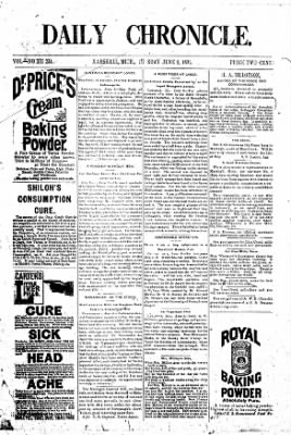 The Daily Chronicle from Centralia, Washington on June 9, 1891 · Page 1