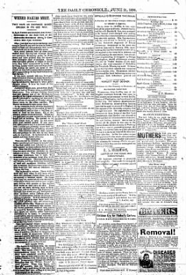 The Daily Chronicle from Centralia, Washington on June 11, 1891 · Page 5