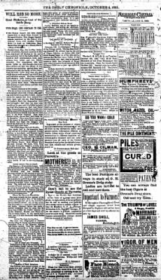 The Daily Chronicle from Centralia, Washington on October 6, 1892 · Page 4