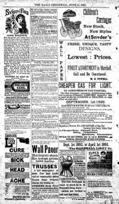 The Daily Chronicle from Centralia, Washington on June 15, 1893 · Page 4