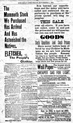 The Daily Chronicle from Centralia, Washington on November 7, 1892 · Page 4