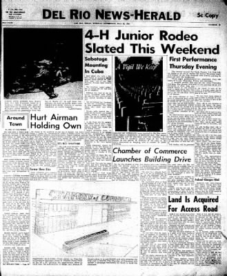 Del Rio News Herald from Del Rio, Texas on May 30, 1961 · Page 1