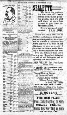 The Daily Chronicle from Centralia, Washington on November 9, 1892 · Page 3