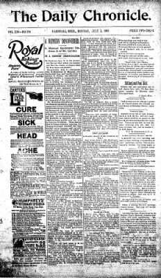 The Daily Chronicle from Centralia, Washington on July 3, 1893 · Page 1