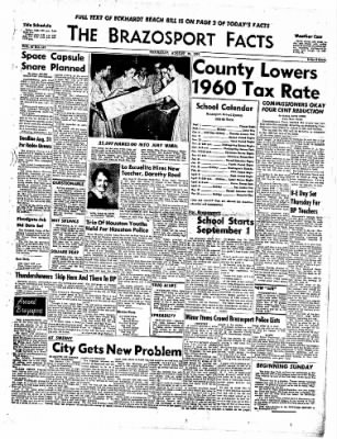 The Brazosport Facts from Freeport, Texas on August 20, 1959 · Page 1