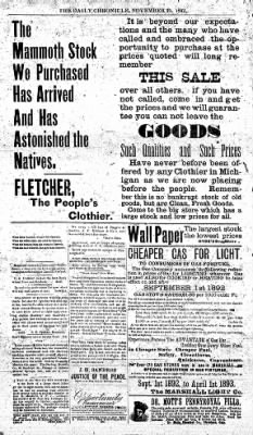 The Daily Chronicle from Centralia, Washington on November 21, 1892 · Page 4