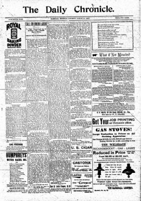 The Daily Chronicle from Centralia, Washington on August 21, 1897 · Page 1