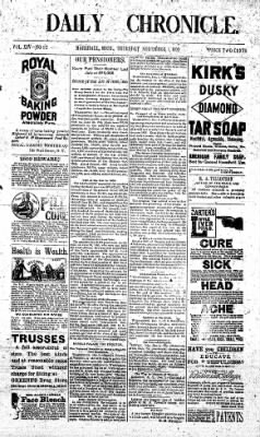 The Daily Chronicle from Centralia, Washington on December 1, 1892 · Page 1