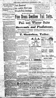 The Daily Chronicle from Centralia, Washington on December 9, 1892 · Page 2