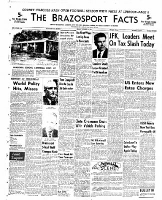 The Brazosport Facts from Freeport, Texas on August 10, 1962 · Page 1