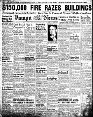Pampa Daily News from Pampa, Texas on February 8, 1946 · Page 1
