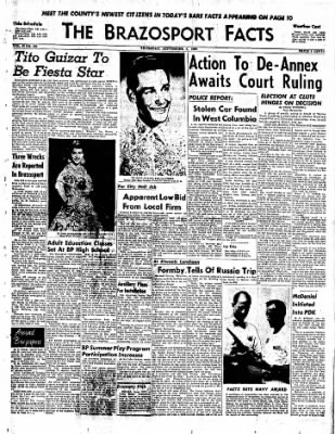 The Brazosport Facts from Freeport, Texas on September 3, 1959 · Page 1