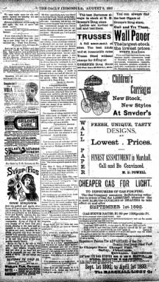 The Daily Chronicle from Centralia, Washington on August 8, 1893 · Page 4