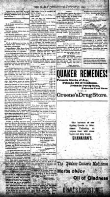 The Daily Chronicle from Centralia, Washington on August 12, 1893 · Page 3