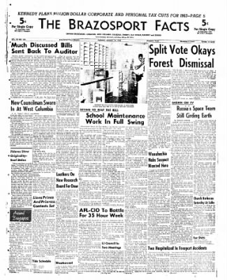 The Brazosport Facts from Freeport, Texas on August 14, 1962 · Page 1