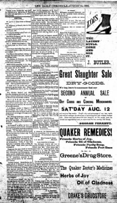 The Daily Chronicle from Centralia, Washington on August 25, 1893 · Page 3