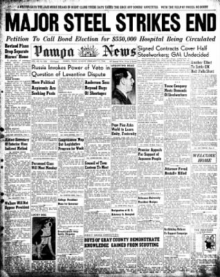 Pampa Daily News from Pampa, Texas on February 17, 1946 · Page 1