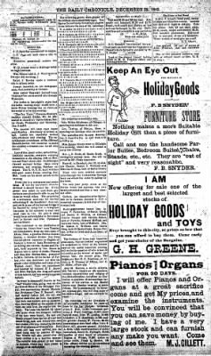 The Daily Chronicle from Centralia, Washington on December 29, 1892 · Page 3