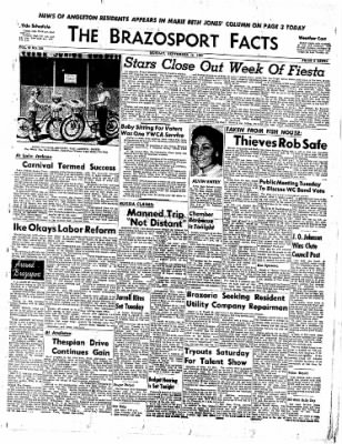 The Brazosport Facts from Freeport, Texas on September 14, 1959 · Page 1