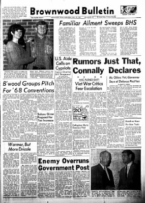 Brownwood Bulletin from Brownwood, Texas on November 29, 1967 · Page 1