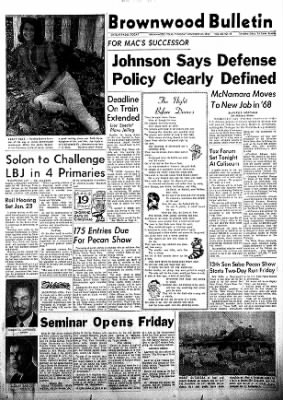 Brownwood Bulletin from Brownwood, Texas on November 30, 1967 · Page 1