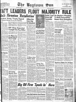 The Baytown Sun from Baytown, Texas on May 27, 1952 · Page 1