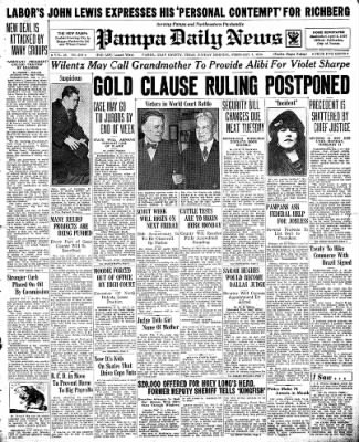 Pampa Daily News from Pampa, Texas on February 3, 1935 · Page 1