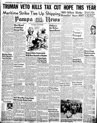 Pampa Daily News from Pampa, Texas on June 16, 1947 · Page 1