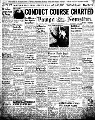 Pampa Daily News from Pampa, Texas on March 1, 1946 · Page 1