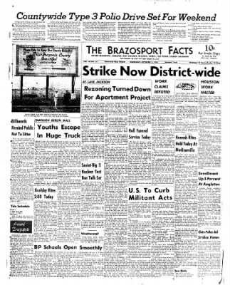The Brazosport Facts from Freeport, Texas on September 5, 1962 · Page 1