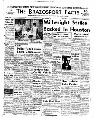 The Brazosport Facts from Freeport, Texas on September 7, 1962 · Page 1