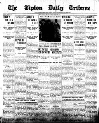 The Tipton Daily Tribune from Tipton, Indiana on April 26, 1930 · Page 1