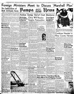 Pampa Daily News from Pampa, Texas on June 27, 1947 · Page 1