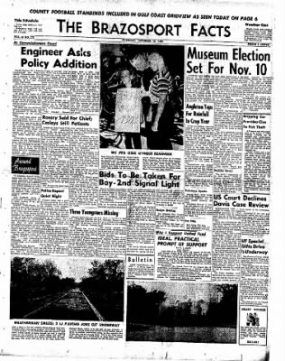 The Brazosport Facts from Freeport, Texas on October 13, 1959 · Page 1