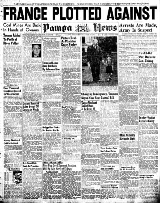 Pampa Daily News from Pampa, Texas on June 30, 1947 · Page 1