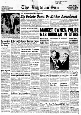 The Baytown Sun from Baytown, Texas on January 23, 1954 · Page 1