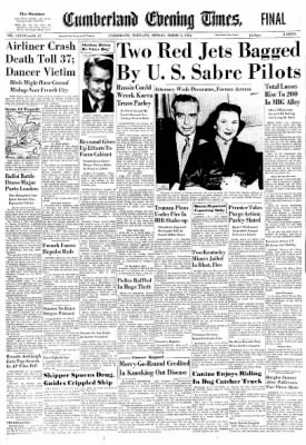 Cumberland Evening Times from Cumberland, Maryland on March 3, 1952 · Page 1