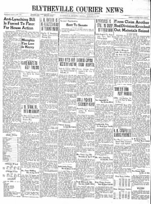 The Courier News from Blytheville, Arkansas on January 8, 1940 · Page 1