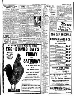 Mt. Vernon Register-News from Mt Vernon, Illinois on August 7, 1963 · Page 6