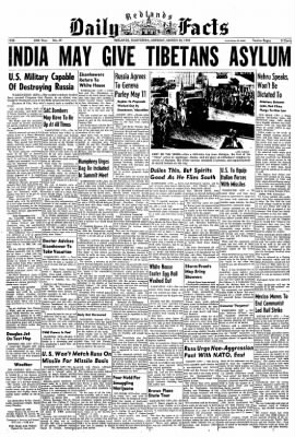 Redlands Daily Facts from Redlands, California on March 30, 1959 · Page 1